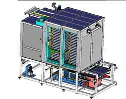 Forno verticale di cottura, per la produzione di sensori